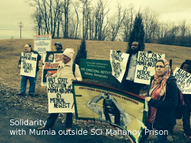 Solidarity with Mumia outside SCI Mahanoy prison